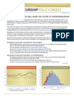 Entrepreneurship Policy Digest - Demographic Trends Will Shape the Future of Entrepreneurship