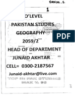 Pakistan Studies(Junaid Akhtar) Section 1- GEOGRAPHY