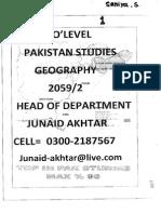 Pakistan Studies(Junaid Akhtar) Section 1- GEOGRAPHY