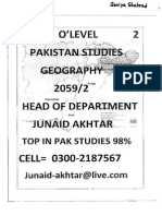 Pakistan Studies(Junaid Akhtar) Section 2- GEOGRAPHY
