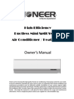 Pioneer Ductless Mini Split System Air Conditioner & Heat Pump - Owner's Manual - WYD_UIM_V0307