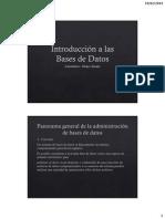 CLase 1. Sistemas de Bases de Datos