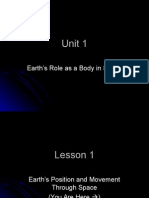 earths role as a body in space