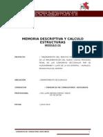 1. Memoria Descriptiva y de Calculo estructural.
