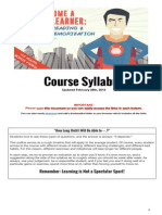 Course Syllabus - New & Improved for 2015