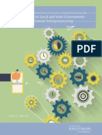 Guidelines for Local and State Governments to Promote Entrepreneurship