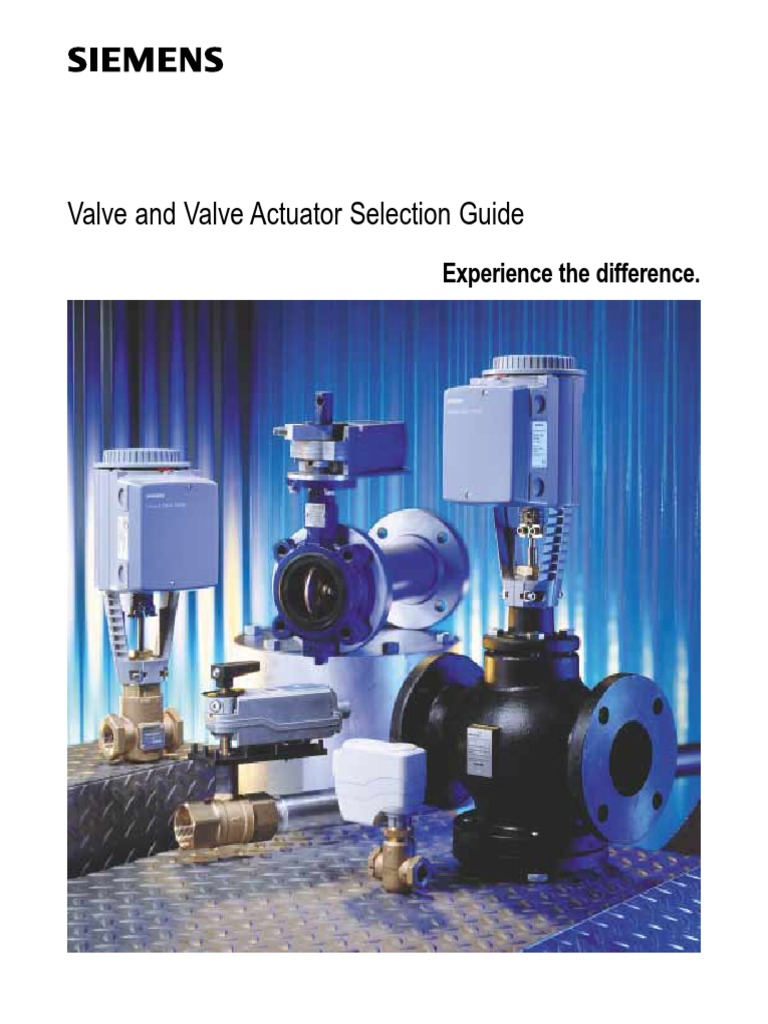 siemens control valve actuator a guide for selection valve actuator rh pt scribd com