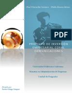 PROYECTO DE INVERSIÓN EMPRESARIAL CORAL COMUNICACIONES