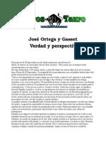 Ortega Y Gasset, Jose - Verdad Y Perspectiva