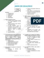 Examen EIR 2015
