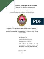Investigacion de Las Deficientes Condiciones Laborales y La Implementacion de Sistemas de Ergonomia, Seguridad e Higiene Industrial