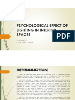 PSYCHOLOGY OF LIGHTING