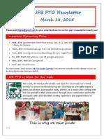 JFB PTO Newsletter 3-18-15