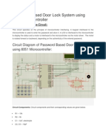 582_Password Based Door Lock System Using 8051 Microcontroller