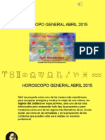 Horóscopo General Para Abril 2015