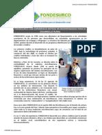 FONDESURCO - Líderes en Crédito Para El Desarrollo Rural