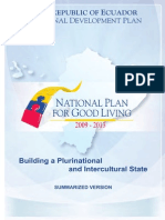 Ecuador´s National Plan for Good Living 2009-2013