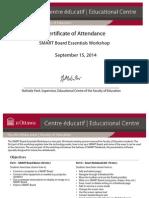 smart board essentials certificate