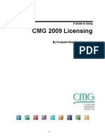 A Guide to Using CMG 2009 Licensing