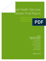 Rural Health Services Review 2015