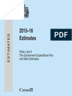2015-16 Main Estimates