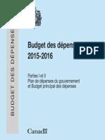 2015-16 Main Estimates (french)