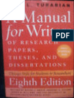 A Manual for Writers of Research Papers, Theses, And Dissertations _8th Ed