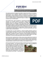 FOVIDA- Experiencia en Crédito Rural y Perfil