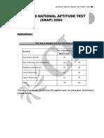 SNAP 2004 Questions