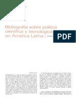 """DILMUS D. JAMES  """"Bibliografía sobre política científica y tecnológica en América Latina"""""""