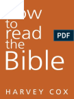How to Read the Bible by Harvey Cox (Book Excerpt)