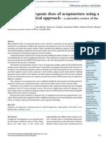 Defining Adequate dose of Acupuncture