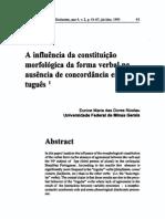 A influência da constituição morfológica da forma verbal na ausência de concordância em Português