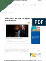 7 Lecciones de Jack Daly Para Ser Un Tigre en Las Ventas
