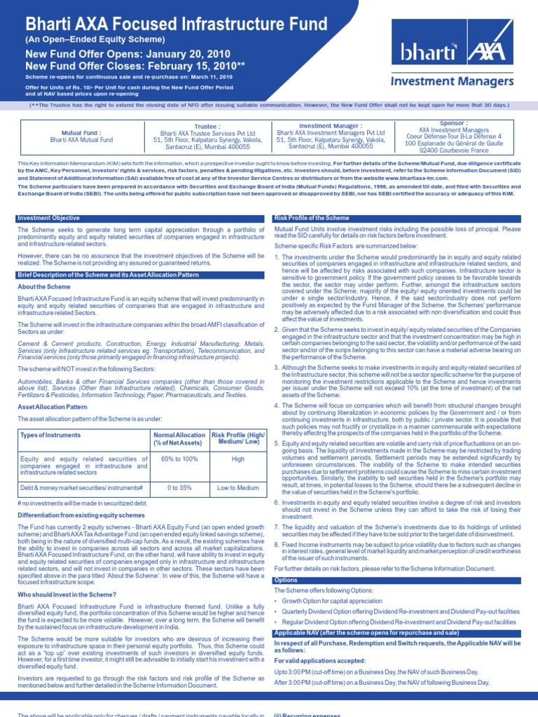 bharti axa payout form