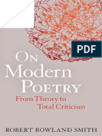 Rowland Smith- On Modern Poetry