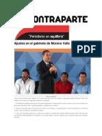 08-03-2015 Contraparte - Ajustes en El Gabinete de Moreno Valle