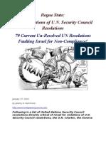 UN Resolutions Against Israel