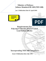 NES 168 Requirements for Polyvinyl Chloride (PVC) Coated Lead Ballast Blocks Category 3
