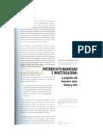 Interdisiplinariedad e investigación