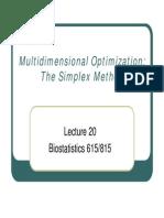 Simplex Optimisation