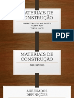 Materiais de Construção Agregados