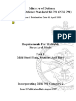 NES 791 Part 1 Requirements for Weldable Structural Steels