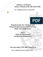 NES 106 Part 4 Requirements for Medical and Dental Organization in HM Surface Ships and Submarines