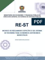 Modelo de Reglamento Especifico de Tesoreria