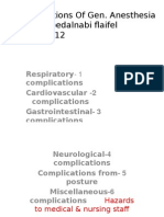 Complications of Anesthesia