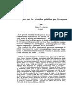 Remarques Sur Les Planches Publiées Par Leroquais