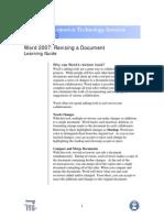Word 07 Revising Document