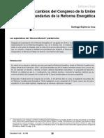 609_Principales Cambios Del Congreso de La Unión a Leyes Secundarias de La Reforma Energética
