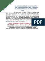 Juramentación del CONREDE Tacna 2015 estará a cargo del Presidente del Consejo Nacional de Decanos del Perú